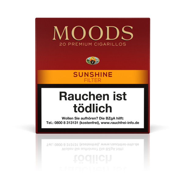 Moods Sunshine Filter Cigarillo, 20 Zigarillos