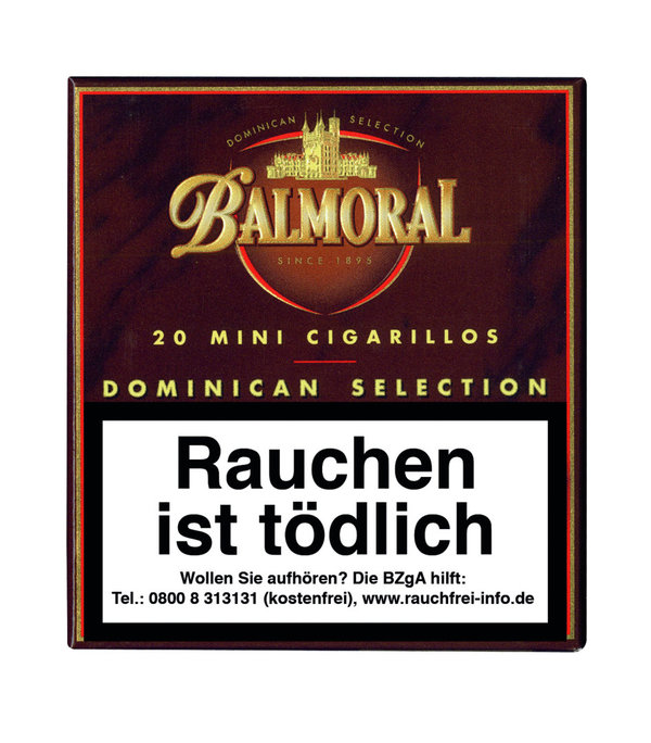 Balmoral Dominican Selection Mini Cigarillo, 20 Stück