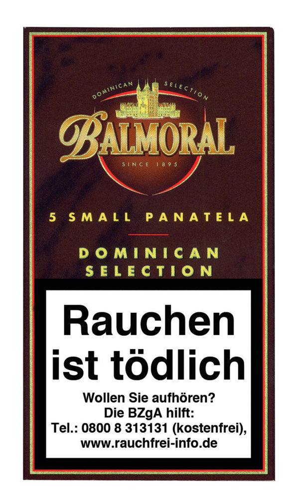 Balmoral Dominican Selection Small Panatela, 5 Stück