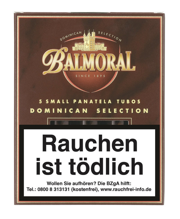 Balmoral Dominican Selection Small Panatela Tubo, 5 Stück