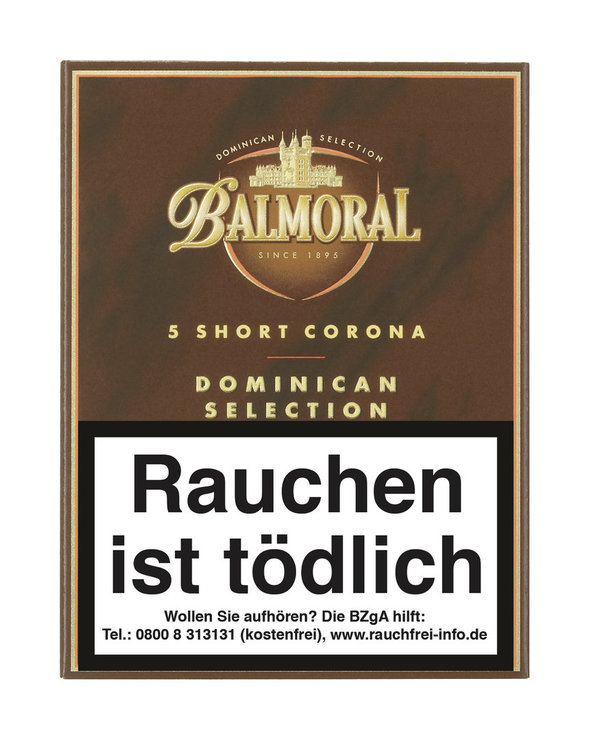 Balmoral Dominican Selection Short Corona, 5 Stück