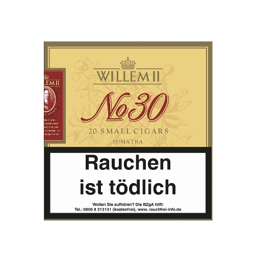Willem II Nr 30 Sumatra Small Cigars, 20 Stück